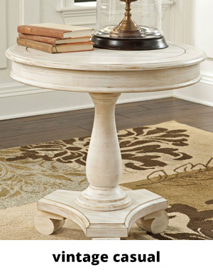 Small round wood end table in white color
